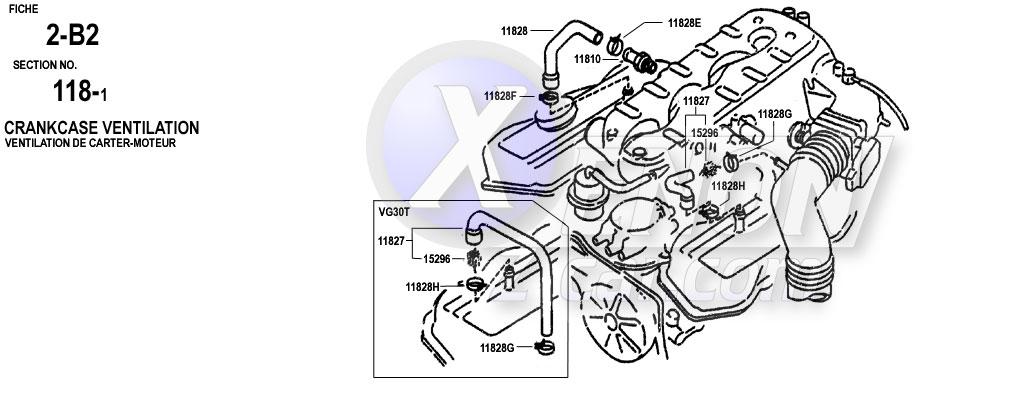 Xenonzcar Com Z31 Parts Fiche Engine Mechanical Section 2b