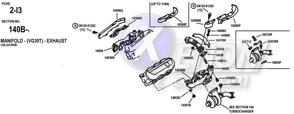 Xenonzcar Com Z31 Parts Fiche Manifolds Intake Exhaust
