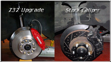 XenonZcar com Z31 to Z32 Front Brake Swap